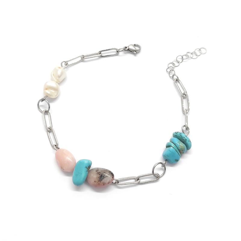 bracciale-gipsy-bianco-con-pietre-turchese-e-perle