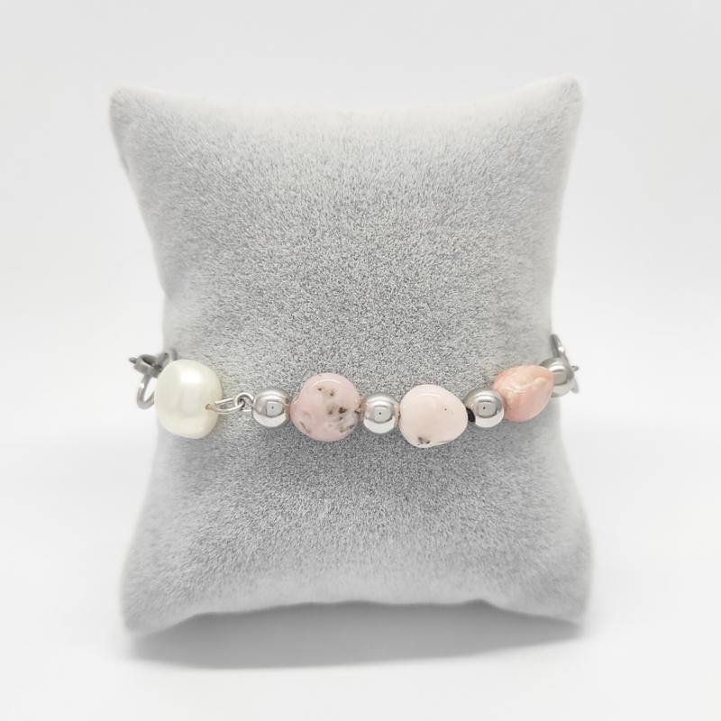 bracciale-gipsy-pietre-naturali-rosa-e-perle