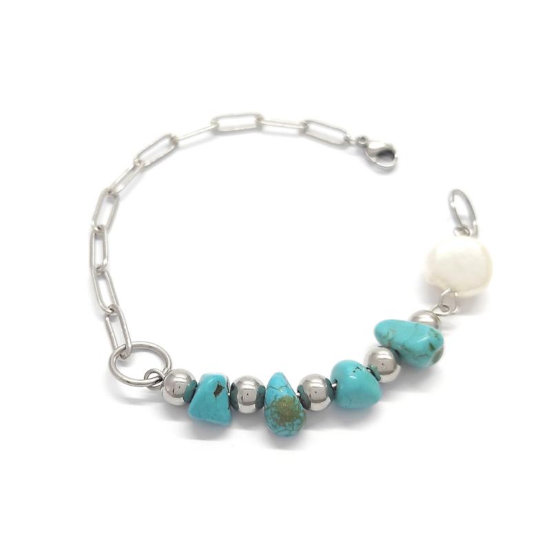 bracciale-gipsy-con-turchese-e-perle