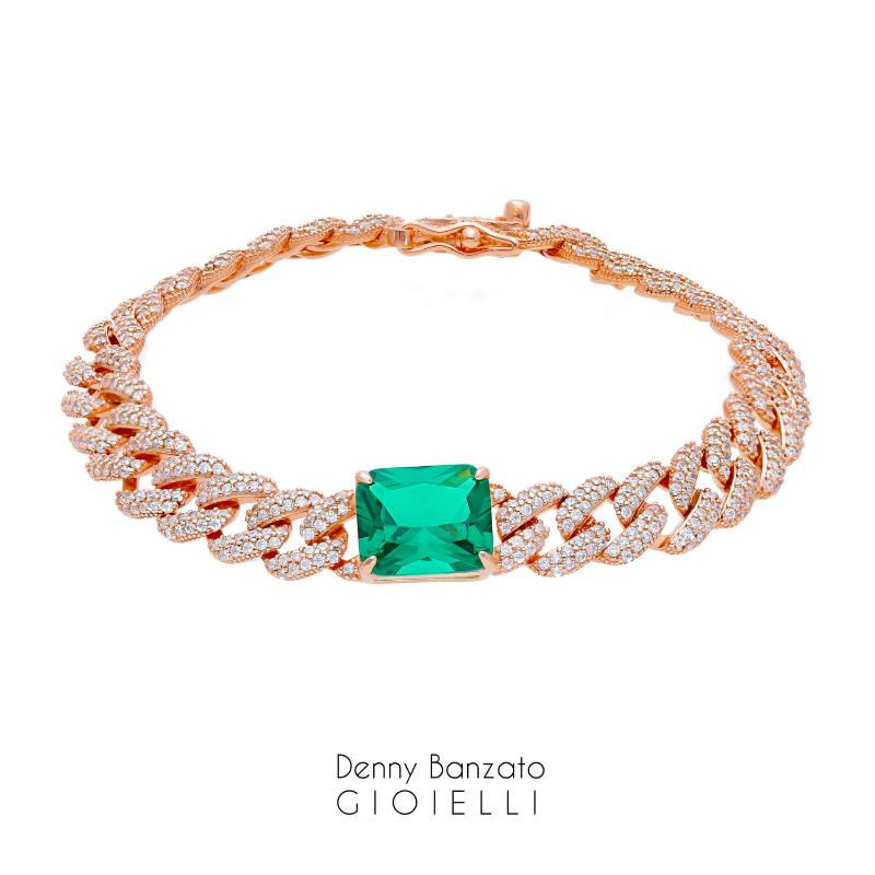 bracciale-crystal-grumetta-con-centrale-verde