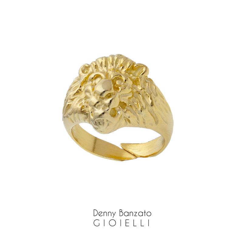 anello-uomo-testa-di-leone-in-argento925-dorato