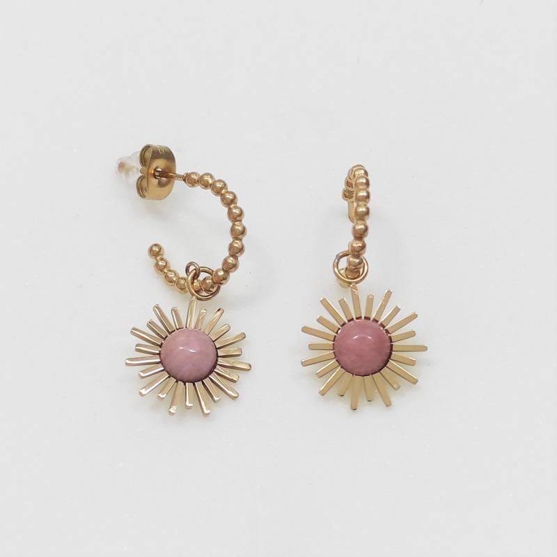 orecchini-zenith-dorati-pietra-rosa